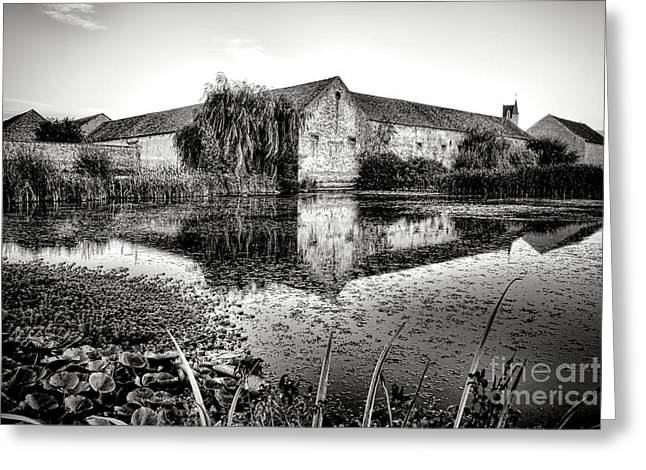 Old Farm And Pond In France Greeting Card by Olivier Le Queinec