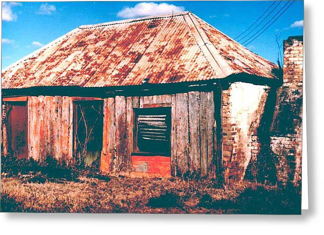 Greeting Card featuring the photograph Old Farm House by Gary Wonning