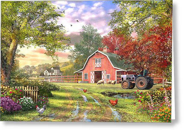 Old Farm House Variant 1 Greeting Card by Dominic Davison