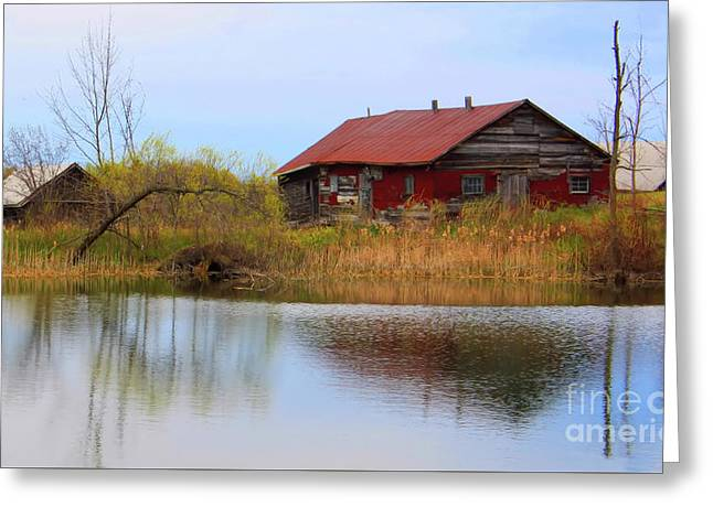 Old Farm Houses Greeting Card by Anthony Djordjevic