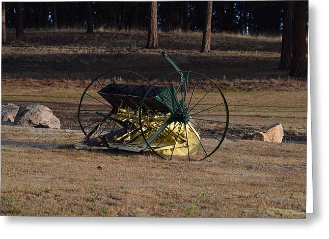 Old Farm Implement Lake George Co Greeting Card