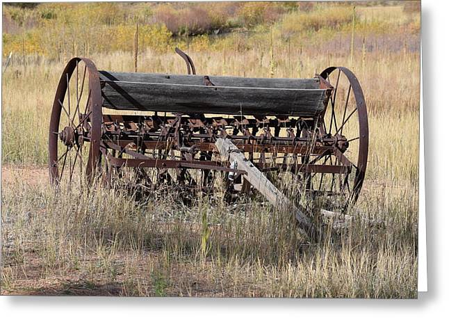 Farm Implament Westcliffe Co Greeting Card
