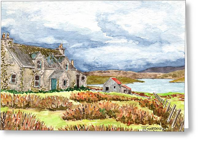 Old Farm Isle Of Lewis Scotland Greeting Card by Timithy L Gordon