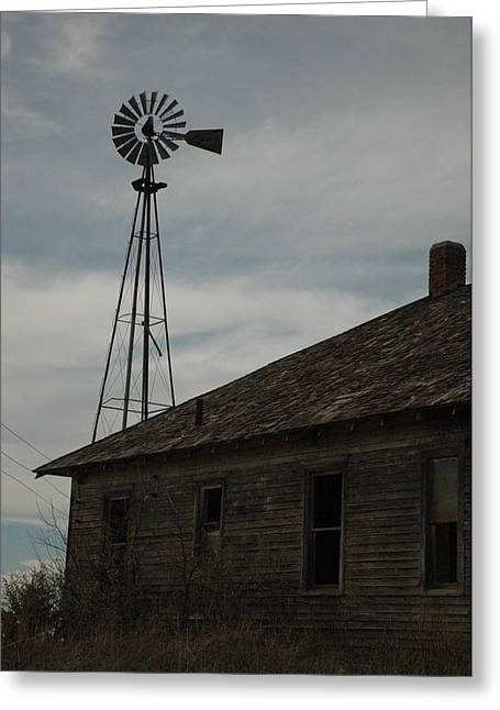 Old Farm Greeting Card by Julie Clements