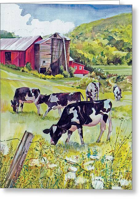 Old Farm Greeting Card