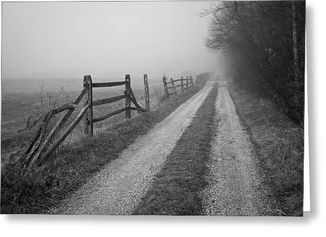 Old Farm Road Greeting Card by David Gordon