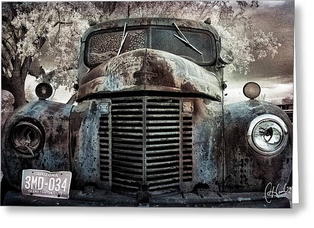 Old Farm Truck II Greeting Card by Christine Hauber