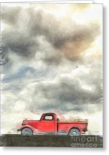 Old Farm Truck Pencil Greeting Card