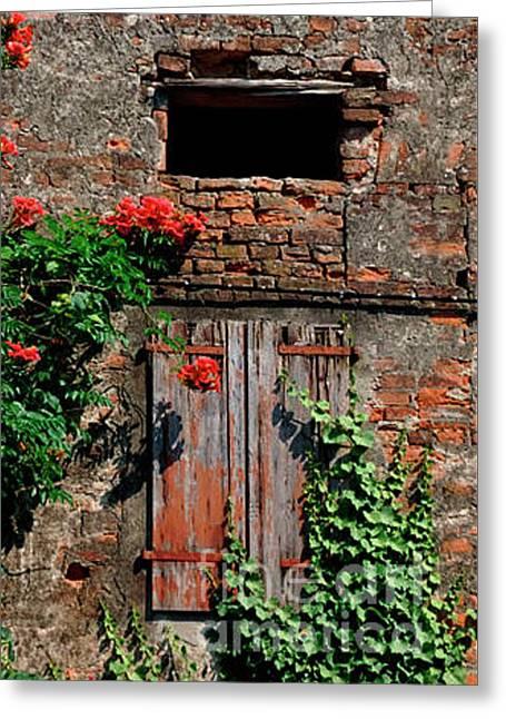Old Farm Window Greeting Card