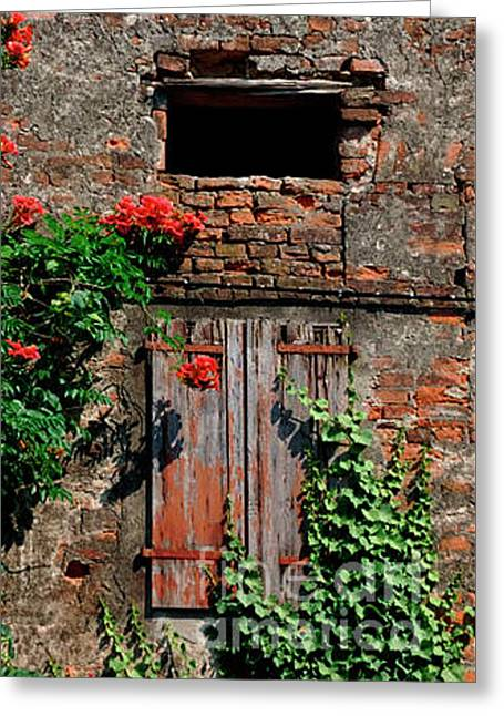 Old Farm Window Greeting Card