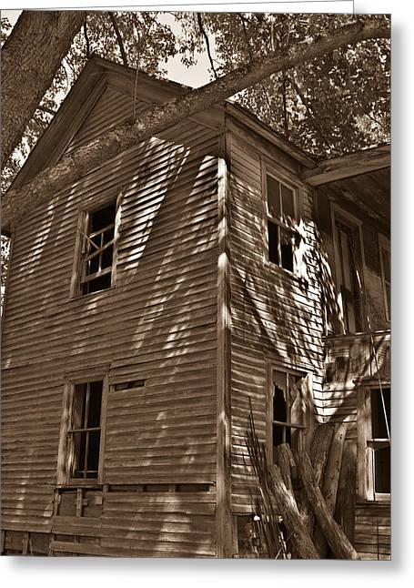 Old Farmhouse In Summertime Greeting Card by Douglas Barnett