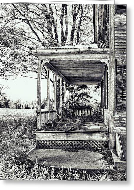 Old Farmhouse Porch Greeting Card by HD Connelly