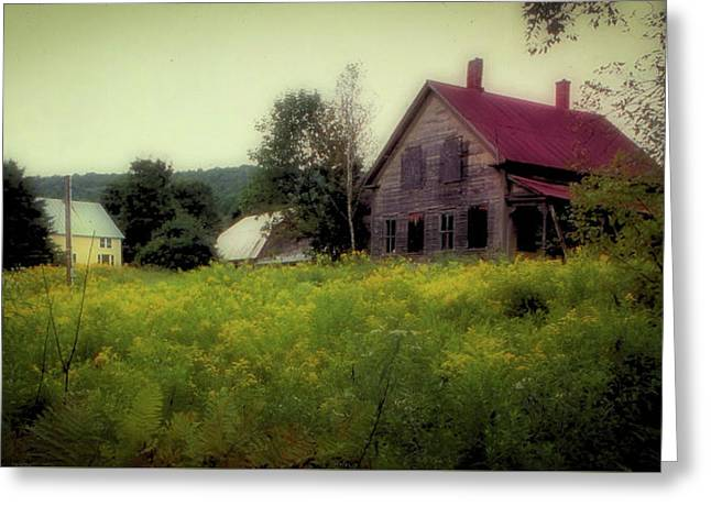 Old Farmhouse - Woodstock, Vermont Greeting Card