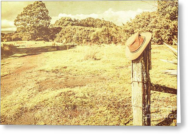 Old Farming Landscape Greeting Card by Jorgo Photography - Wall Art Gallery