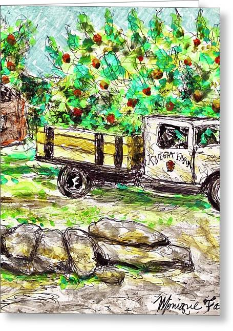 Old Farming Truck Greeting Card