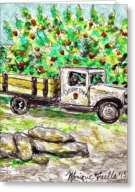 Old Farming Truck Greeting Card