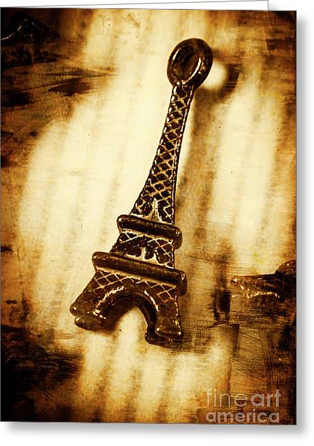 Old Fashion Eiffel Tower Souvenir Greeting Card