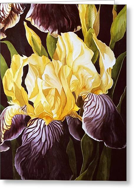 Old Fashion Iris Greeting Card