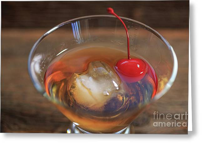 Greeting Card featuring the photograph Old Fashioned Cocktail by Edward Fielding