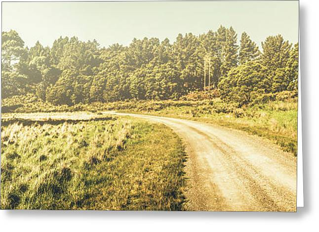 Old-fashioned Country Lane Greeting Card