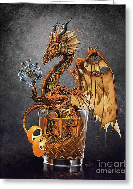 Old Fashioned Dragon Greeting Card