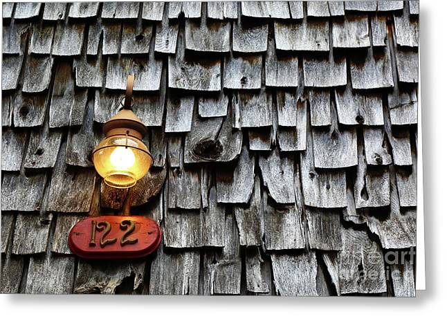 Old Fashioned Lamp And Wooden Shingles Frederick Maryland Greeting Card