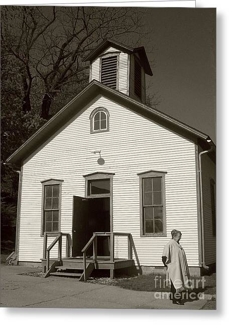 Old-fashioned School House Greeting Card