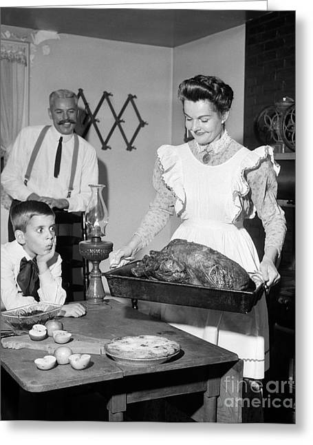 Old-fashioned Thanksgiving Dinner Greeting Card
