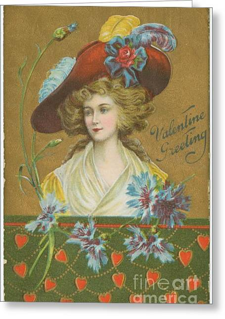 Old Fashioned Valentine Four Greeting Card