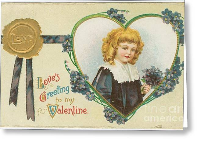 Old Fashioned Valentine Three Greeting Card