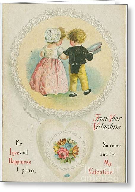 Old Fashioned Valentine Two Greeting Card