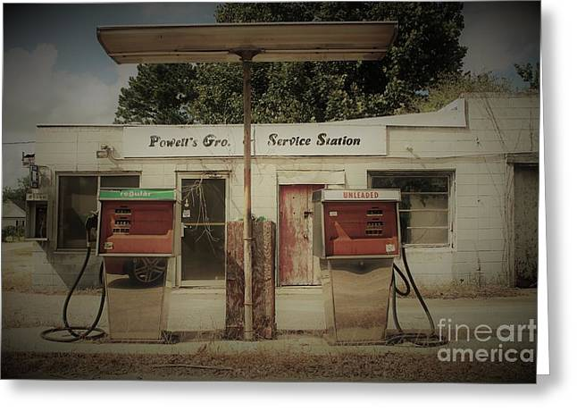Old Filling Station Greeting Card