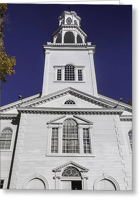 Old First Church Greeting Card by Garry Gay