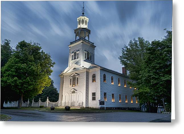 Old First Church Of Bennington Greeting Card by Stephen Stookey