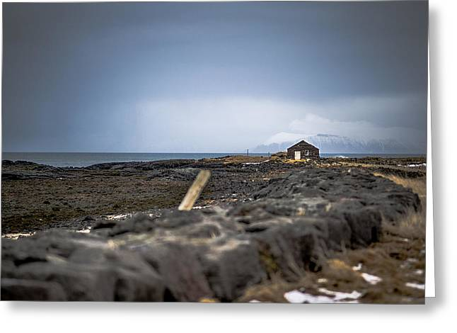 Old Fisherman's Coastal House Greeting Card