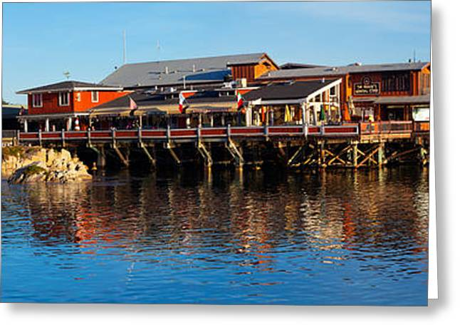 Old Fishermans Wharf, Monterey Greeting Card by Panoramic Images