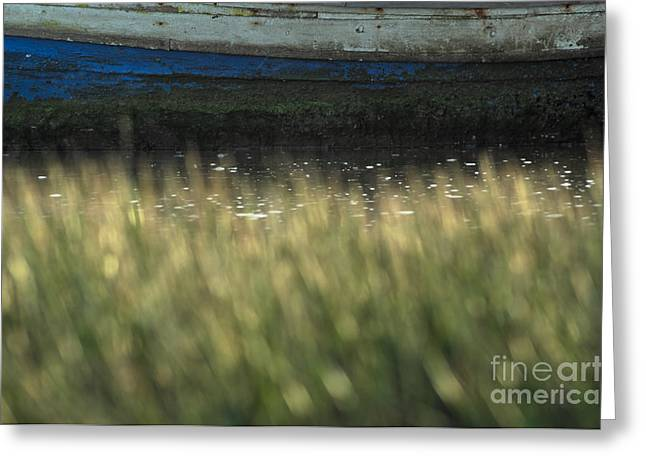 Old Fishing Boat On The Water Greeting Card by Angelo DeVal