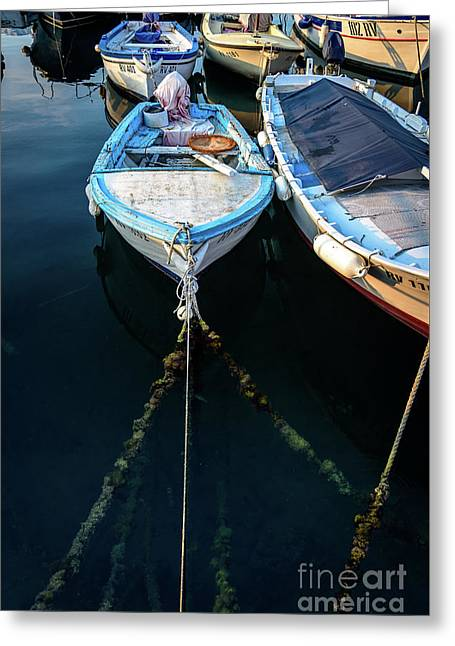 Old Fishing Boats Of The Adriatic Greeting Card