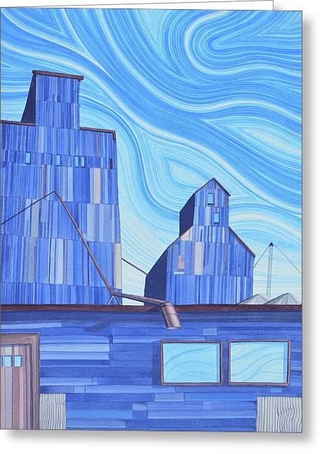 Greeting Card featuring the painting Old Flat Top by Scott Kirby
