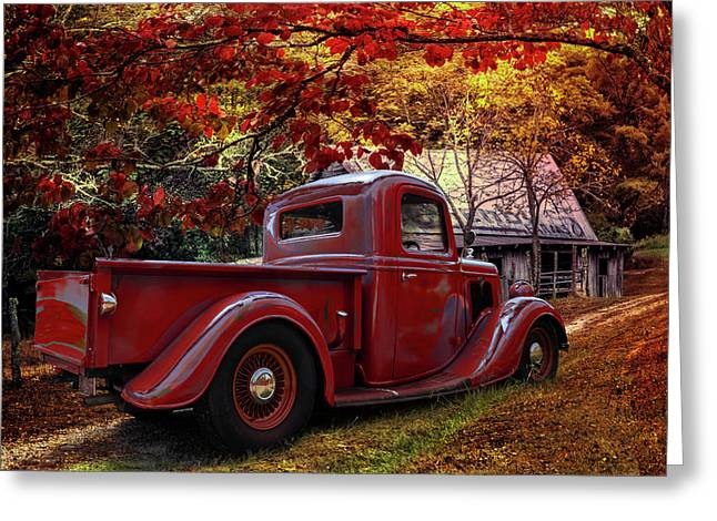 Old Ford At The Farm Greeting Card