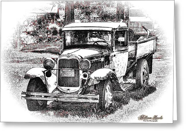 Greeting Card featuring the photograph Old Ford Homemade Pickup by William Havle