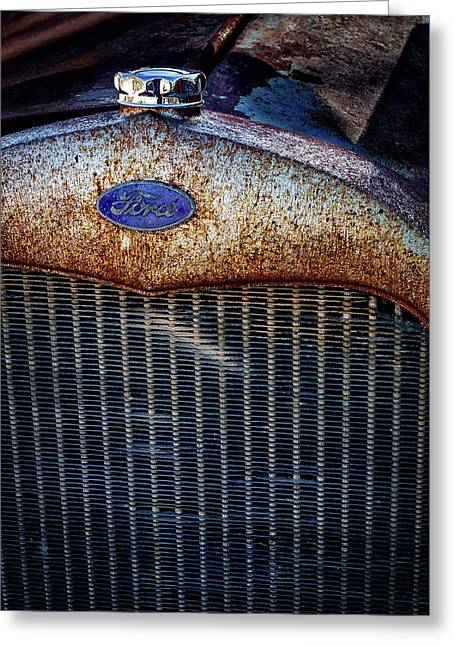 Old Ford Tractor Grill Greeting Card
