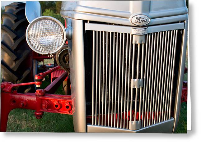 Ford Tractor 9n Tractor Front Greeting Card