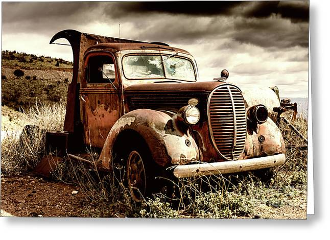 Old Ford Truck In Desert Greeting Card