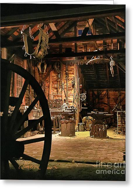 Old Forge Greeting Card