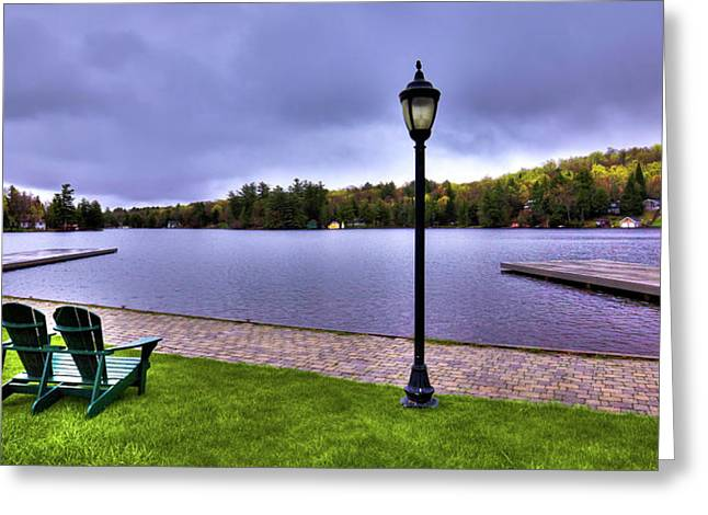 Old Forge Waterfront Greeting Card by David Patterson
