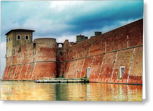 Old Fortress In Livorno Greeting Card by Sue Melvin