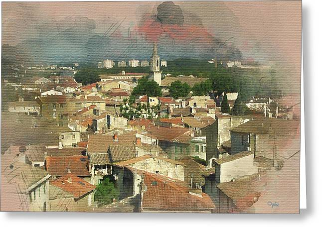 Old French Village Greeting Card