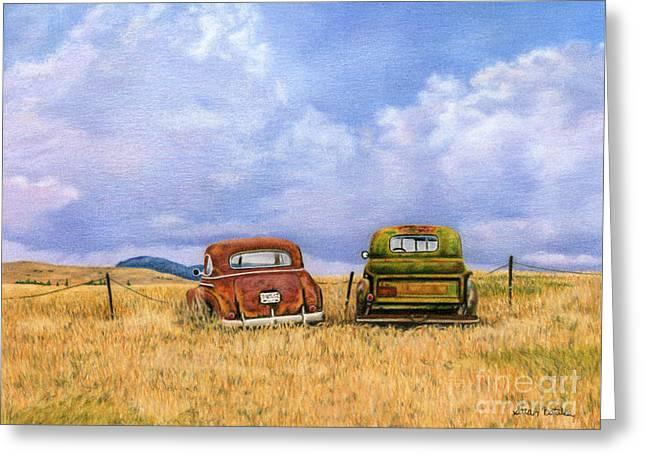 Two Old Friends  Greeting Card by Sarah Batalka