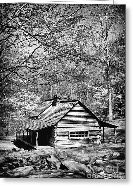 Old Frontier Cabin  Greeting Card by Paul W Faust -  Impressions of Light